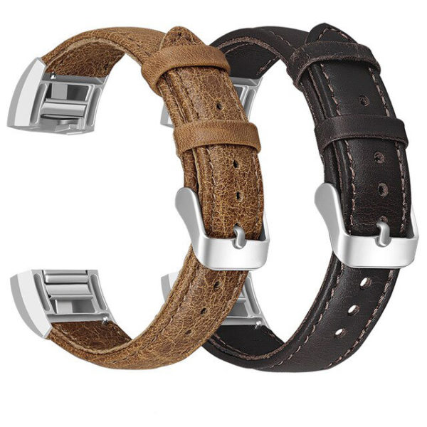 Fitbit Charge 2 Genuine Aged Leather Strap